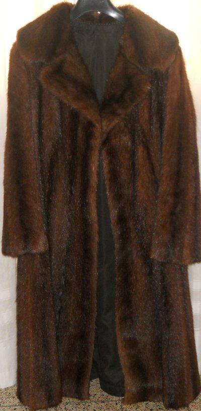 Pelliccia lunga rat musque visonato originale vintage Tg 48