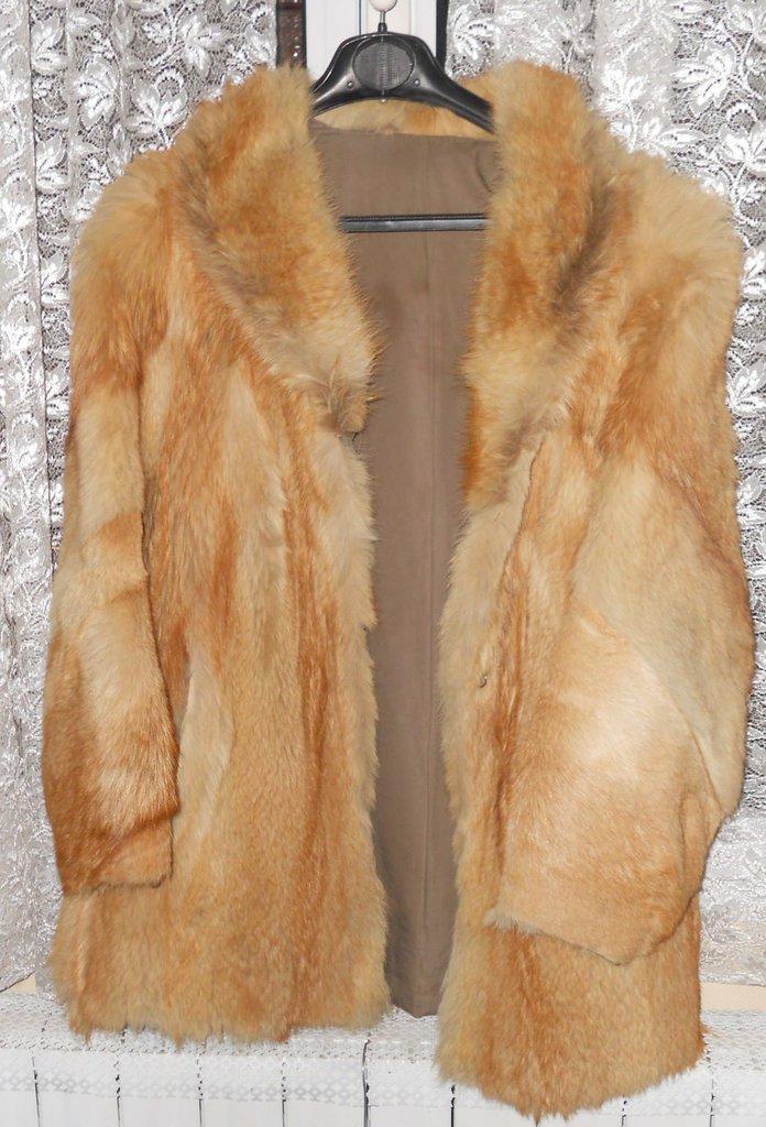 Pelliccia giaccone in lupo taglio classico Tg 42/44