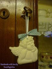 Bomboniera angioletto profumato in polvere di ceramica