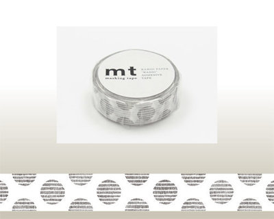 Washi Tape - Dot Script Monochrome