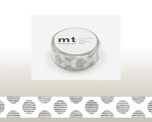 Washi Tape - Dot Script Monochrome