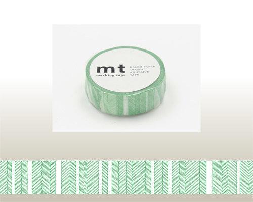 Washi Tape - Script Border Green