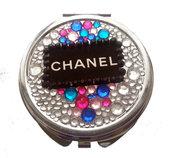 Specchietto da borsetta Chanel style compatto doppio specchio accessori fashion idea regalo ragazza - PEZZO UNICO!