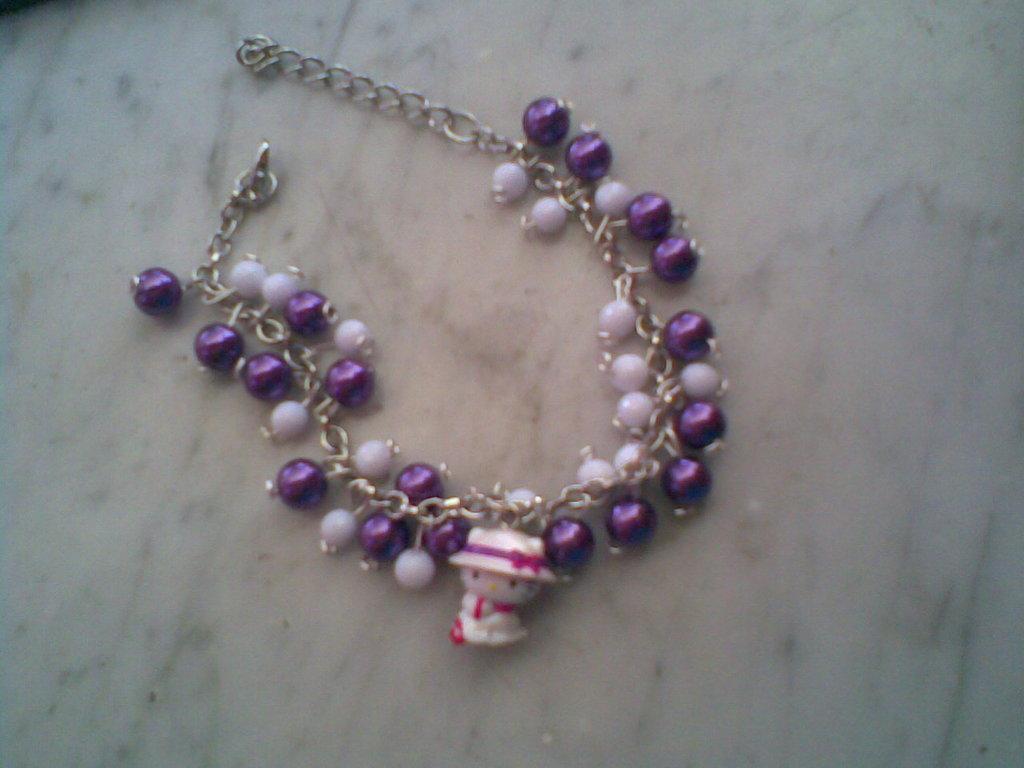 Bracciale HELLO KITTY cappellino con perle