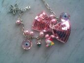 Bracciale HELLO KITTY con fiocco rosa