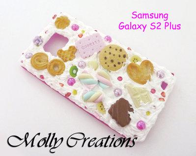 Custodia cover rigida Samsung Galaxy S2 Plus in Fimo
