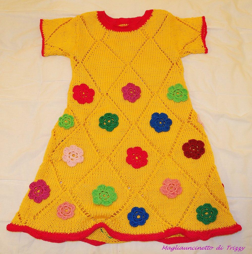 Vestitino bimba con fiori multicolori