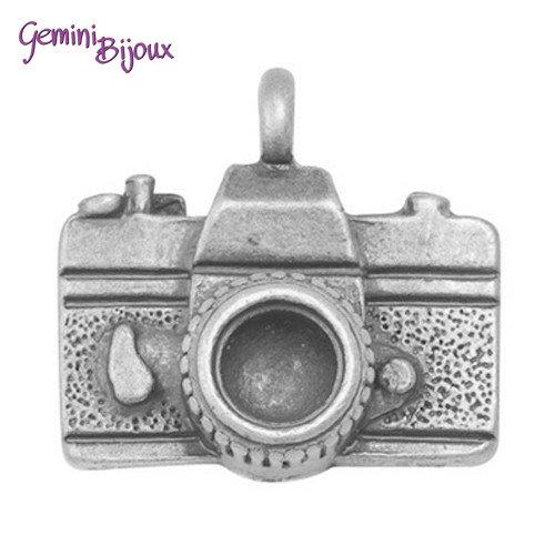Charm argentato Macchina fotografica, 13x13x5mm