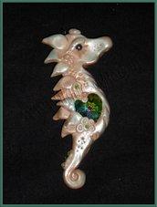 Ciondolo cavalluccio marino ooak/Pendand necklace seahorse