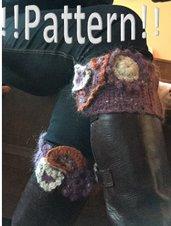Pattern Uncinetto – download immediato: scaldamuscoli calza per stivali, uncinetto freeform