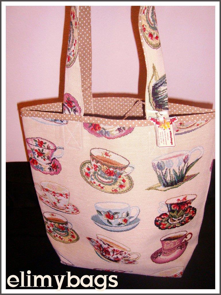 Borsa tazze di stoffa handmade♡
