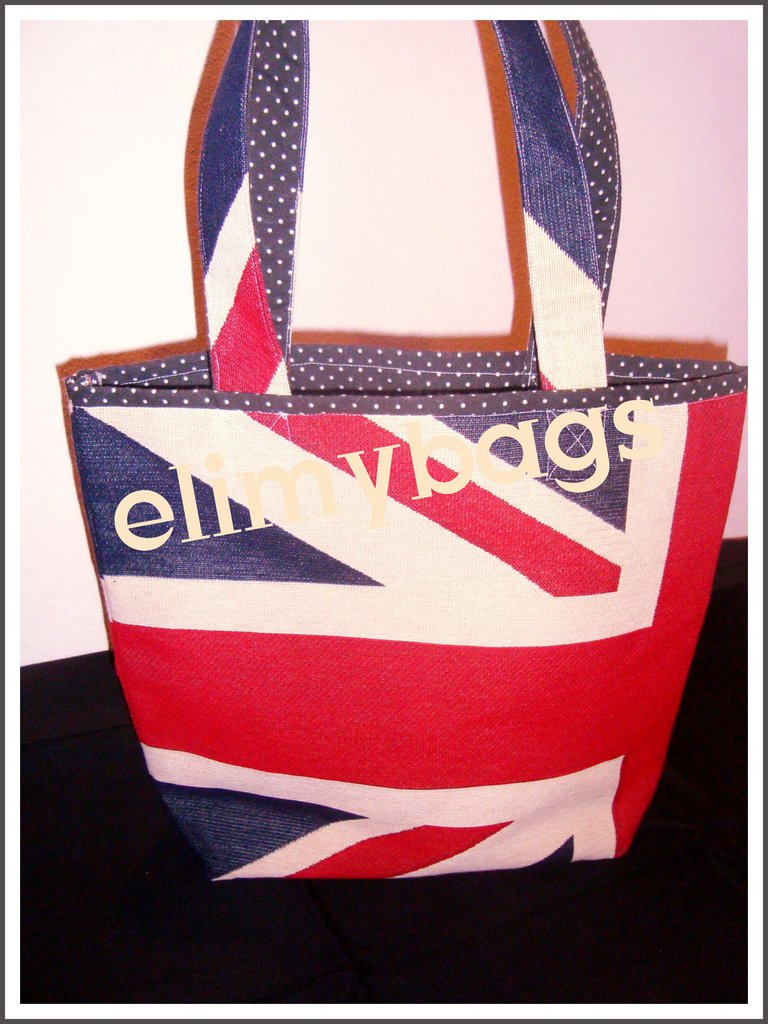 Borsa bandiera inglese di stoffa handmade♡
