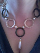 girocollo cerchi con perle