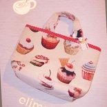 Borsa cupcakes pasticcini di stoffa handmade♥