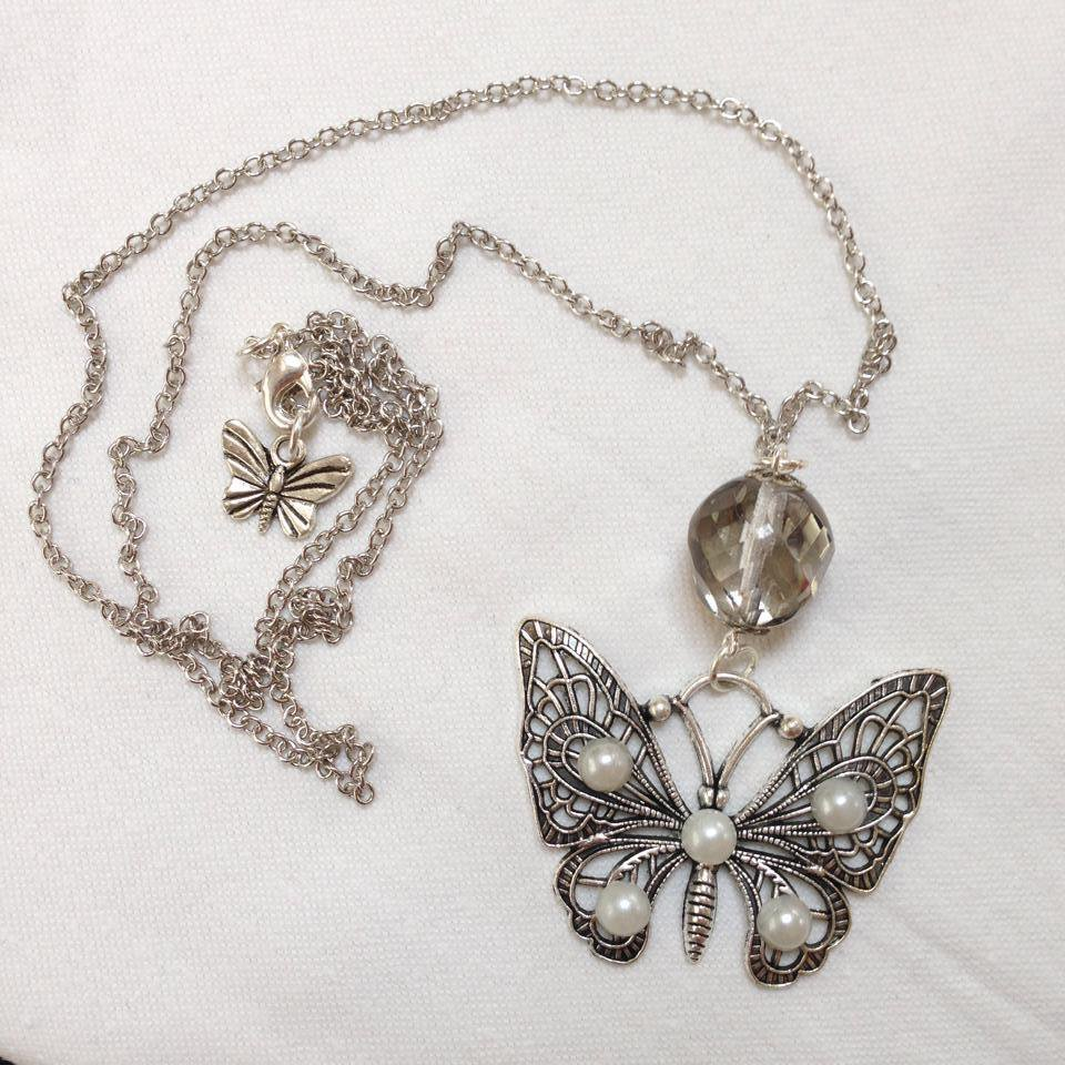 Collana Butterfly con Perle