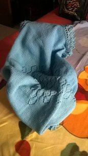copertina baby turchese