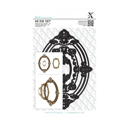 Set fustelle A5 Xcut - Ornate Frames Oval