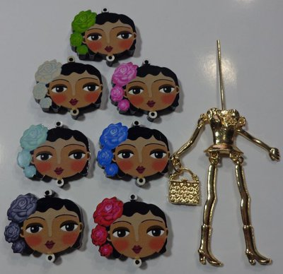 Kit di Bambola Gioiello da Creare - Scegli il colore che desideri - HA LE ROSE FRA I CAPELLI