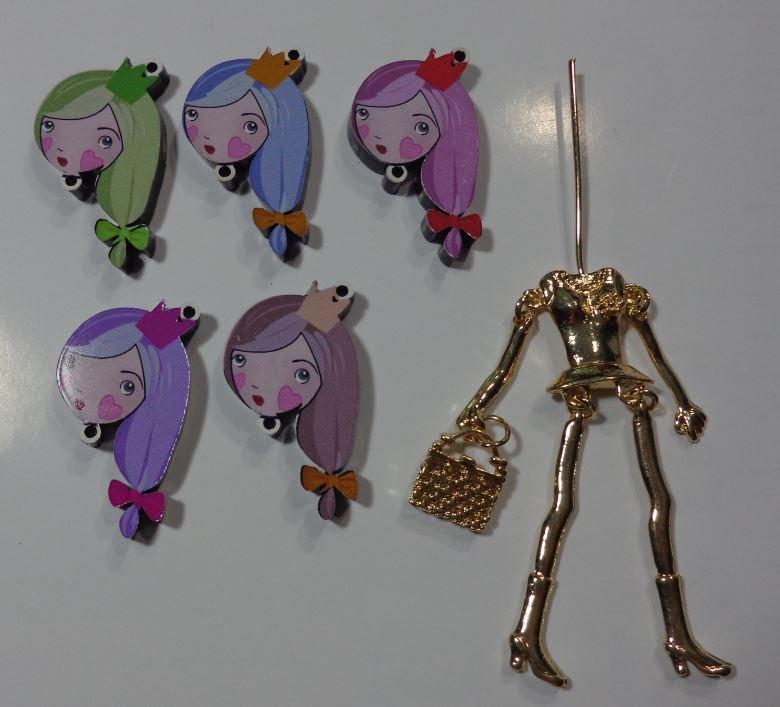 Kit di Bambola Gioiello da Creare - Scegli il colore che desideri - PRINCIPESSA