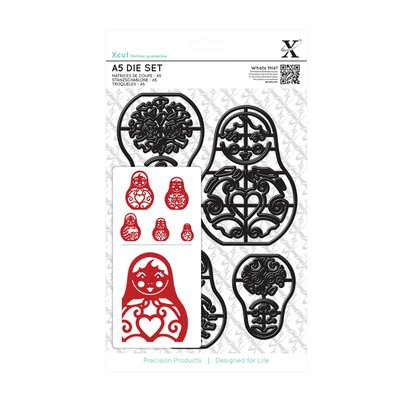 Set fustelle A5 Xcut - Russian Dolls