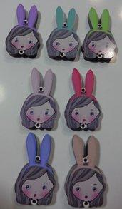 SOLO TESTA IN PLEXI - Parte di Kit di Bambola Gioiello da Creare - Scegli il colore che desideri - RAGAZZA CONIGLIETTO