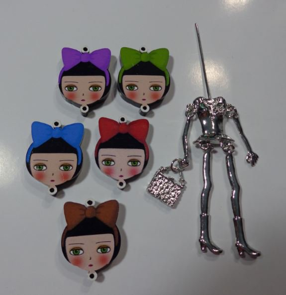 Kit di Bambola Gioiello da Creare - Scegli il colore che desideri - GRANDE FIOCCO