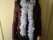 sciarpa soffice celeste