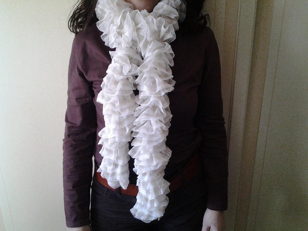 sciarpa soffice chiara