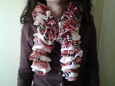 sciarpa fantasia rosso
