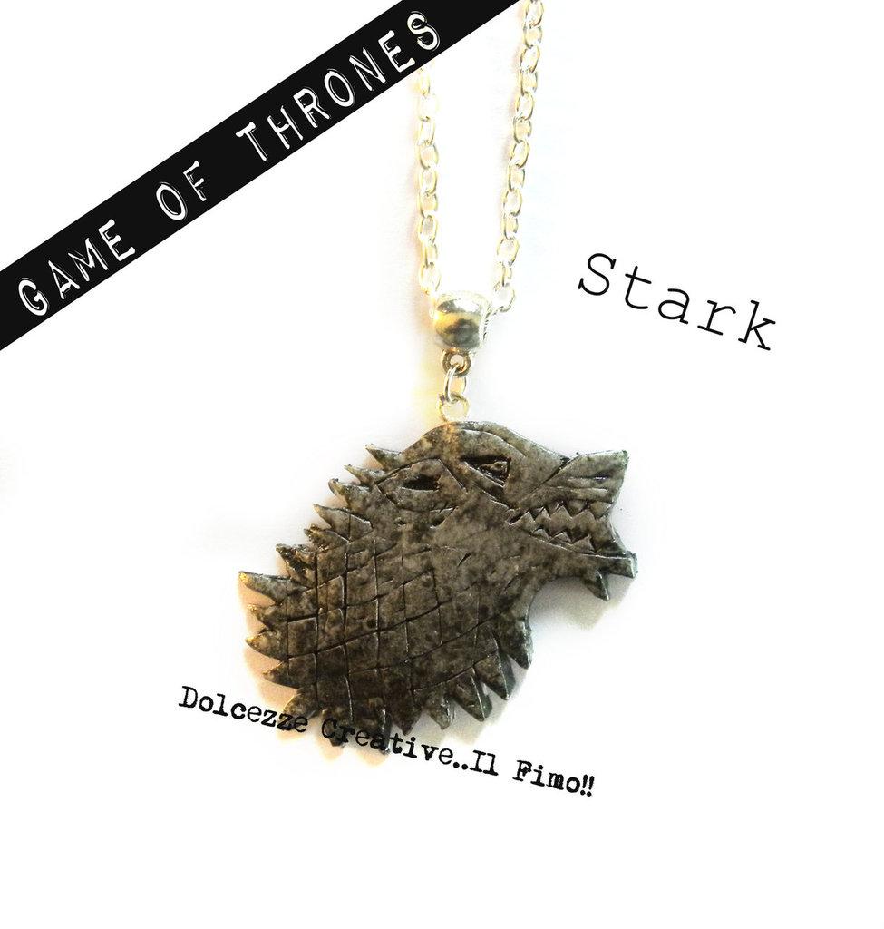 Collana Lupo -  Casata Stark - Winter is coming - Game of Thrones - Il trono di spade