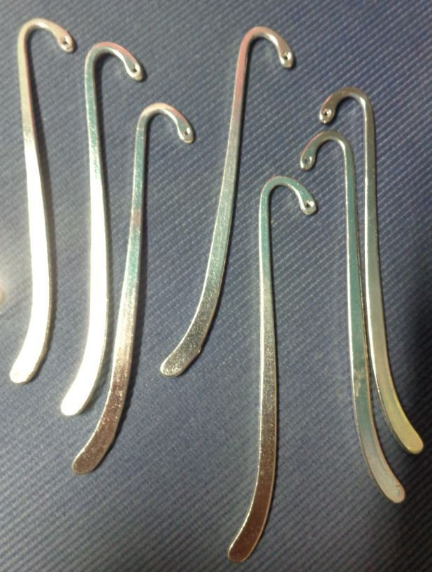5 Basi per Segnalibro in argento tibetano ARGENTO