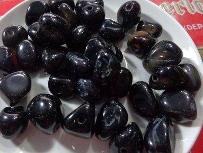 17 Perline In pietra colorata di NERO