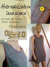 Vestitino spigato in lana alpaca