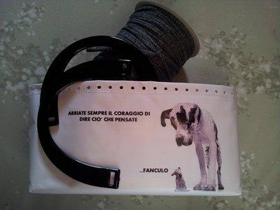 Kit per borse in fettuccia stampa cane con frase