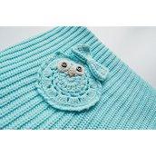 Copertina Cottonlove Menta lavorata a maglia in cotone biologico