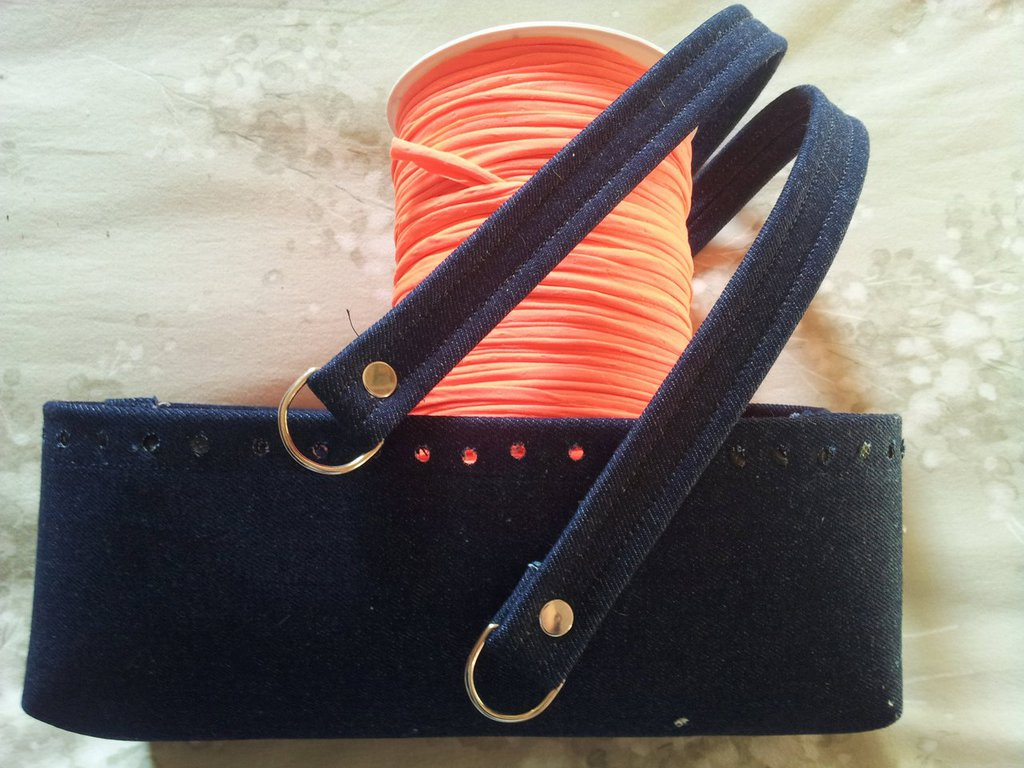 Kit per borse in fettuccia jeans