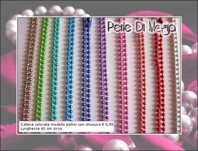 Catene colorate MODELLO PALLINI