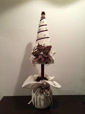 Centrotavola albero di Natale natura
