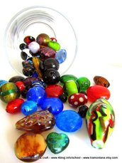 Kit di murrine in vetro per collane e bijoux (KIT 3)