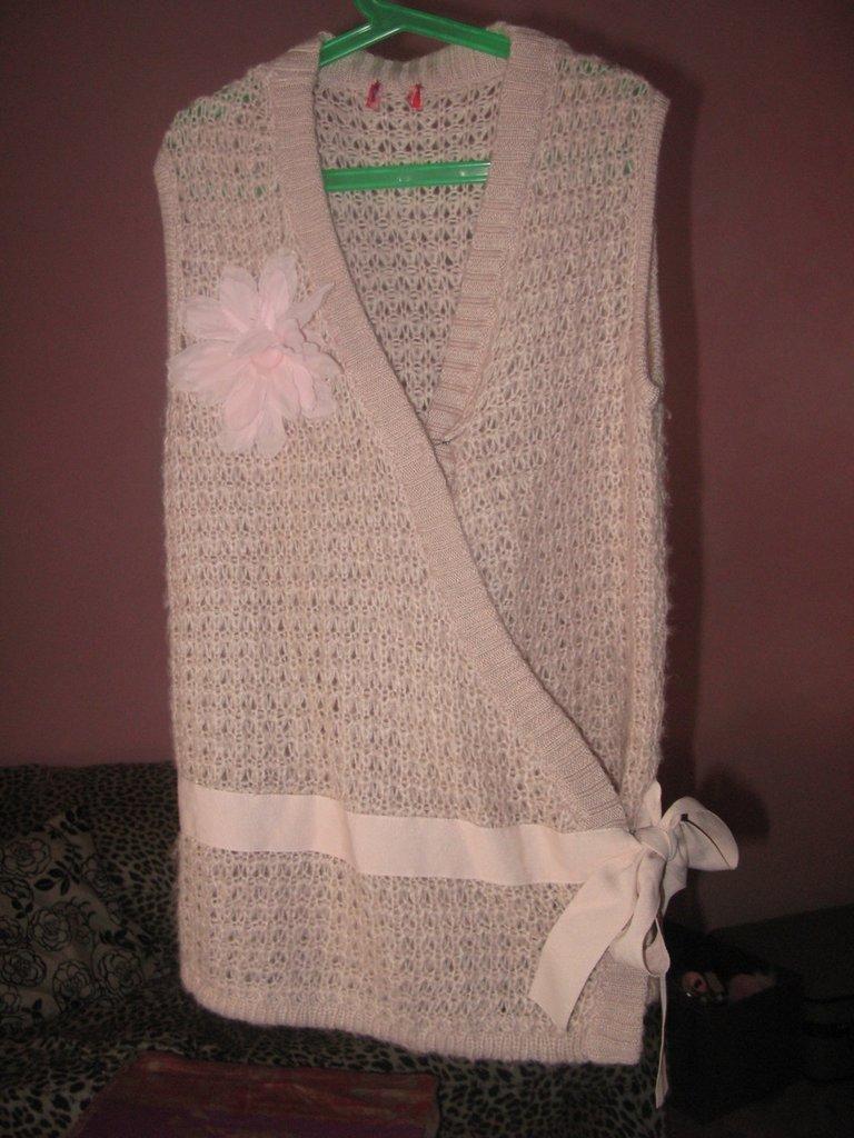 incrociatino smanicato  lana rosa