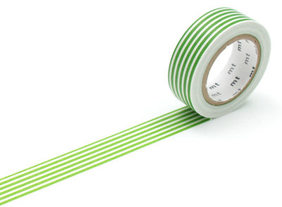 Washi Tape - Border Light Green