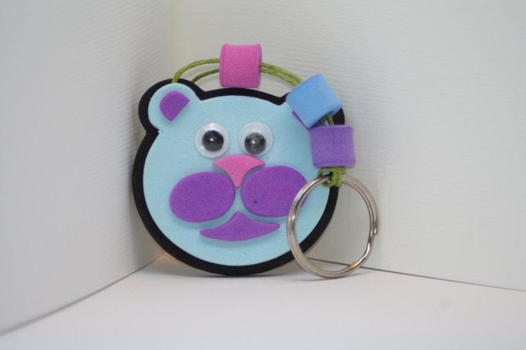 Portachiavi animali divertenti in gomma crepla ( 5 assortiti) realizzati a mano