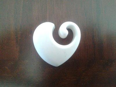 Stampo cuore con ricciolo