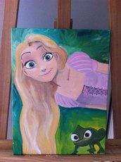 Quadro Rapunzel RAPERONZOLO, arredamento Bambini