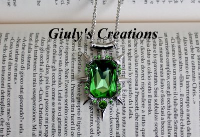 Collana Amuleto Zelena Glinda ONCE UPON A TIME c'era una volta Strega verde
