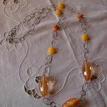 Collana catena arancio e gialla