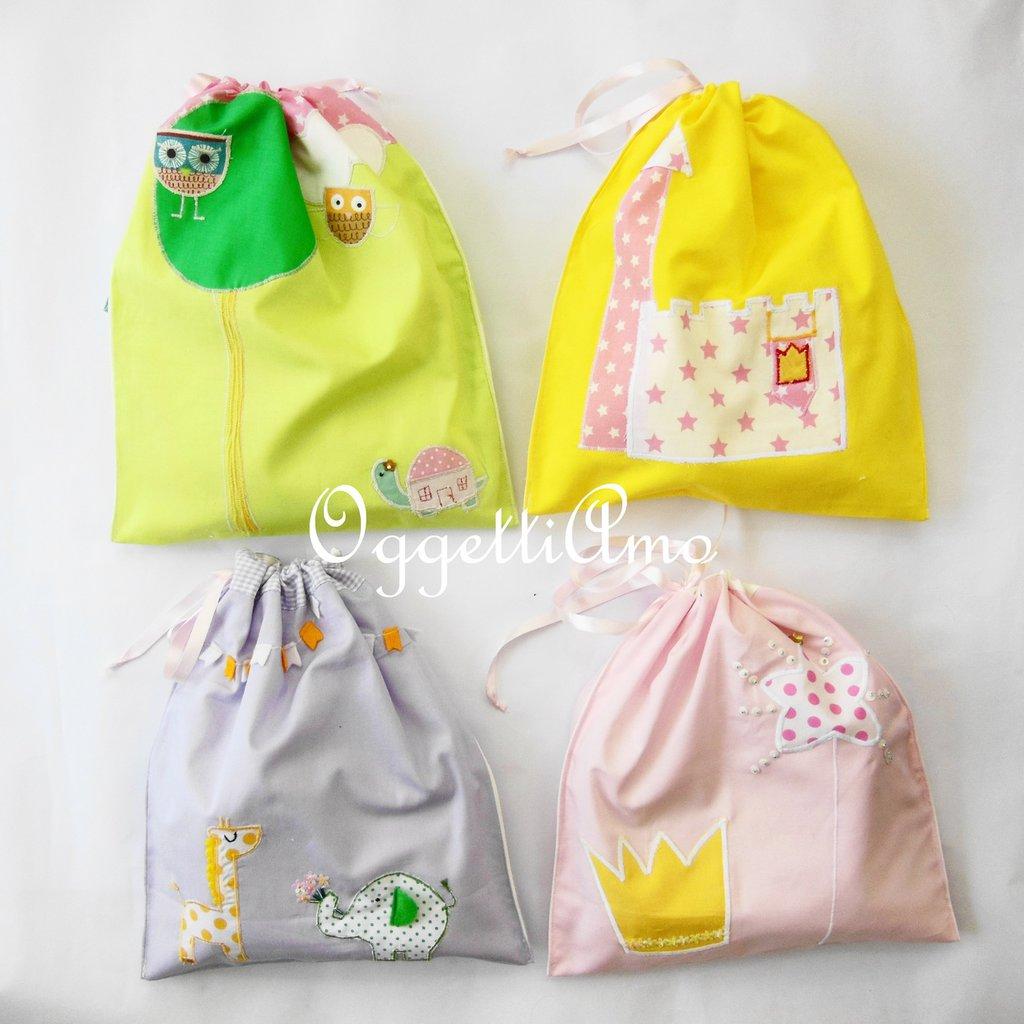 Set asciugamano, bavaglio, sacca per la materna: il set scuola personalizzabile per la vostra bambina!