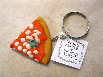Portachiavi PIZZA - fatto a mano