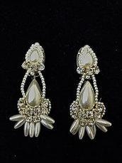 Orecchini Victoria con perle di Maiorca e strass