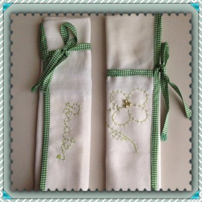 Portaposate in tessuto color bianco fatto a mano per la casa e p su misshobby - Portaposate da viaggio ...